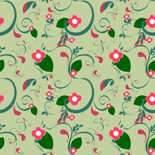 Free Floral Pattern Royalty Free Stock Image - 19082796