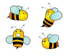Free Cartoon Bees Royalty Free Stock Photo - 19082985