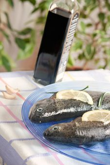 Free Trout Fish Healthy Food With Lemon Stock Image - 19083111