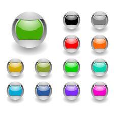 Free Buttons Set Royalty Free Stock Image - 19083186