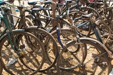 Free Bicycles At The Beach Royalty Free Stock Image - 19083306
