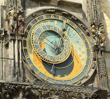 Free Prague, Ancient Astronomical Clock Stock Photography - 19083502