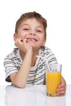 Free Boy With A Glass Of Juice Stock Photo - 19084610