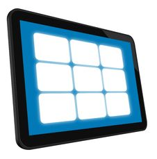 LCD Touch Screen Tablet Royalty Free Stock Photos