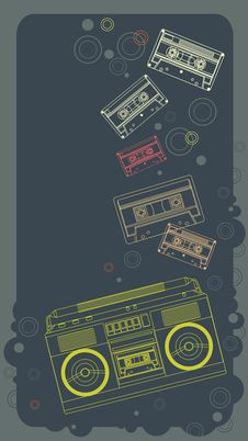 Music Banner In Retro Style Royalty Free Stock Photos
