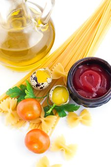 Pasta Ingredients Royalty Free Stock Photo