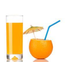 Free Orange And Glass Of Juice Royalty Free Stock Photos - 19085038