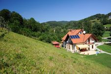 Modern Cottage In The Mountains Stock Images