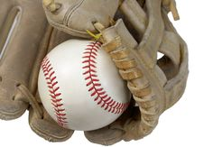 Free Closeup Of Hardball In Baseball Glove Royalty Free Stock Images - 19086589