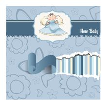 Free Welcome New Baby Boy Stock Image - 19087771