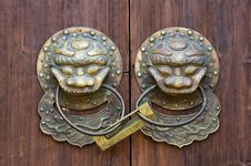 Bronze Knocker And Lock