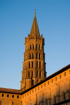 Free Bell Tower Of St Sernin Basilica In Toulouse Stock Images - 19087864