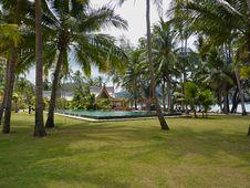 Free Thai Garden With Swimming Pool Royalty Free Stock Photo - 19088005