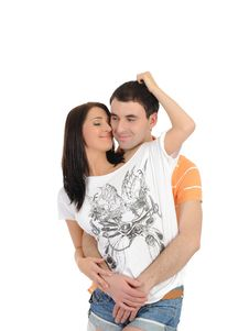 Sweet Young Summer Couple In Love Stock Images
