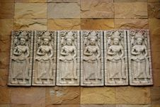 Free Devata On The Wall Royalty Free Stock Photo - 19088885