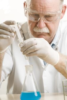 Free Scientist Working With Chemicals Stock Photos - 19089913