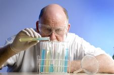 Free Scientist Working With Chemicals Stock Photo - 19089970