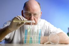 Free Scientist Working With Chemicals Royalty Free Stock Photo - 19089975