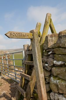 Footpath Sign Stock Image