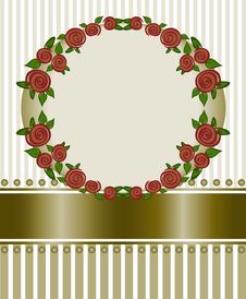 Free Frame Of Red Roses Royalty Free Stock Photo - 19090775