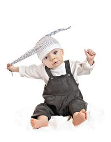 Free Caucasian Baby Boy In A Cap Stock Photo - 19090820