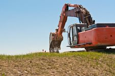 Free Hydraulic Excavator At Work Stock Photos - 19091433