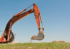 Free Hydraulic Excavator Arm And Bucket Stock Photography - 19091452