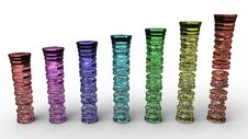 Free Rendering Of Colored Glass Columns Stock Photos - 19092303