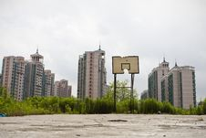 Free Shanghai: Basketball Court Lying Waste Royalty Free Stock Photography - 19092427