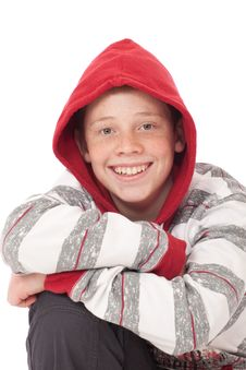 Free Young Boy With Red Hood Stock Image - 19092441