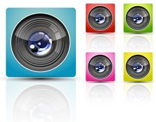 Free Color Camera Lens Royalty Free Stock Images - 19092469