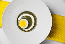 Free Sorrel Dish With Boiled Egg Stock Photography - 19093962