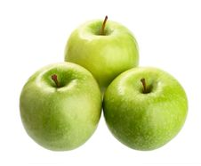 Three Ripe Green Apples. Isolated Royalty Free Stock Photography