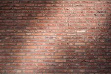 Free Brick Wall With Flush Joints In Dramatic Lighting Royalty Free Stock Images - 19094419
