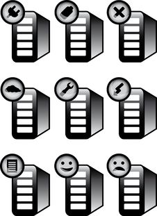 Free Server Status Icons Stock Image - 19094471