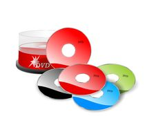 Free DVDs, Cdr Vector Royalty Free Stock Images - 19095109