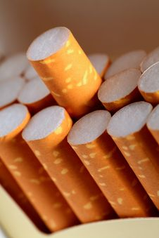Free Close Up Of Cigarettes In Box Stock Photo - 19096100