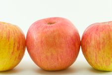 Free Three Apples On White Background Royalty Free Stock Images - 19097049