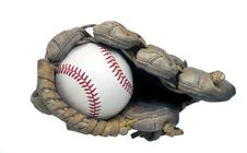 Free End View Of Baseball In Glove Royalty Free Stock Photography - 19097137