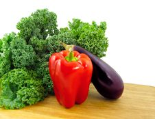 Vegetables On Cutting Board Stock Photos