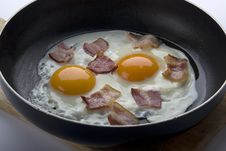 Free Fried Eggs With Bacon Stock Photos - 19097953