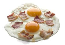 Free Fried Eggs With Bacon Royalty Free Stock Image - 19097956
