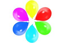 Balloons Isolated Stock Photo