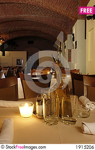 Free Restaurant Interior Royalty Free Stock Image - 1915206