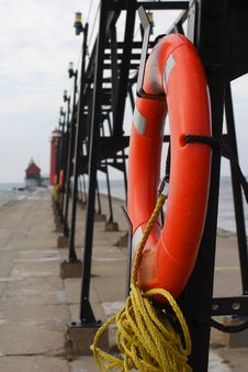Free Pier Lifebuoy Stock Images - 1911484