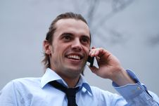 Free Business Man With Cellphone 1 Royalty Free Stock Photo - 1913255