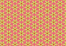 Yellow Daisies On Pink Pattern