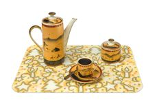 Free Cup, Teapot, Sugar Bowl On Tray Royalty Free Stock Images - 1916769