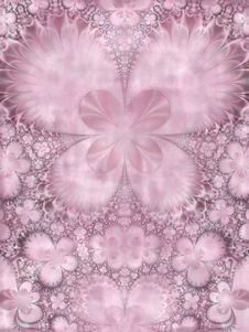 Symmetrical Purple Pink Flower