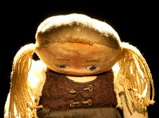 Old Sad Cloth Doll With Spot Light 3 Royalty Free Stock Photography